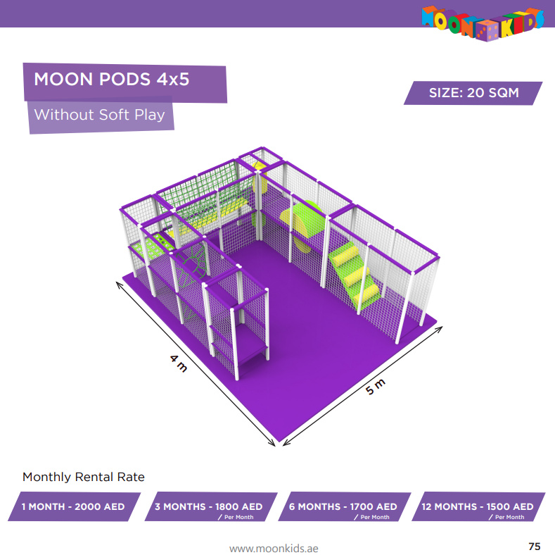 Moon Kids Rentals Moon Pods 4x5 Without Soft Play