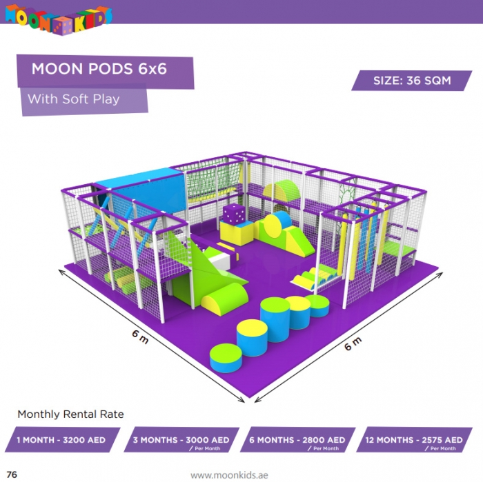 Moon Kids Rentals Moon Pods 6x6 With Soft Play