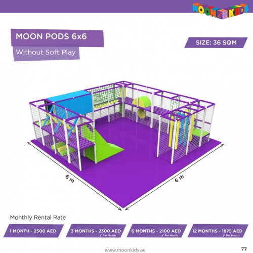 Moon Kids Rentals Moon Pods 6x6 Without Soft Play
