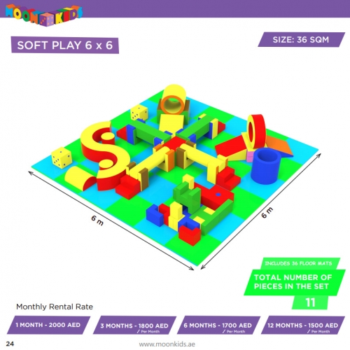 Moon Kids Soft Play Rental 6x6 - 11a