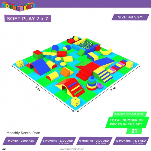 Moon Kids Soft Play Rental 7x7 - 2 - 21a