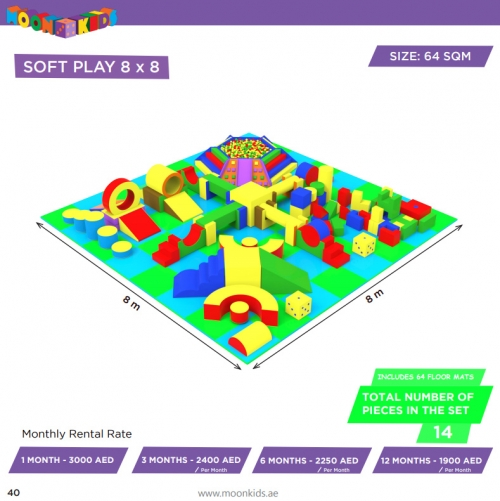 Moon Kids Soft Play Rental 8x8 - 14a