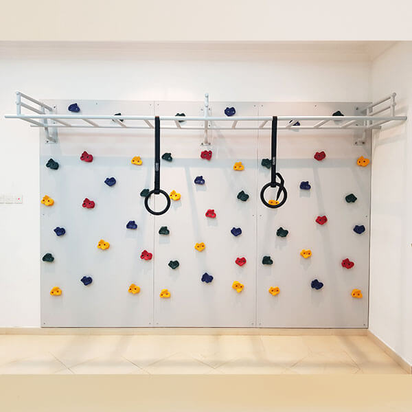 Climbing Wall With Hand Grips
