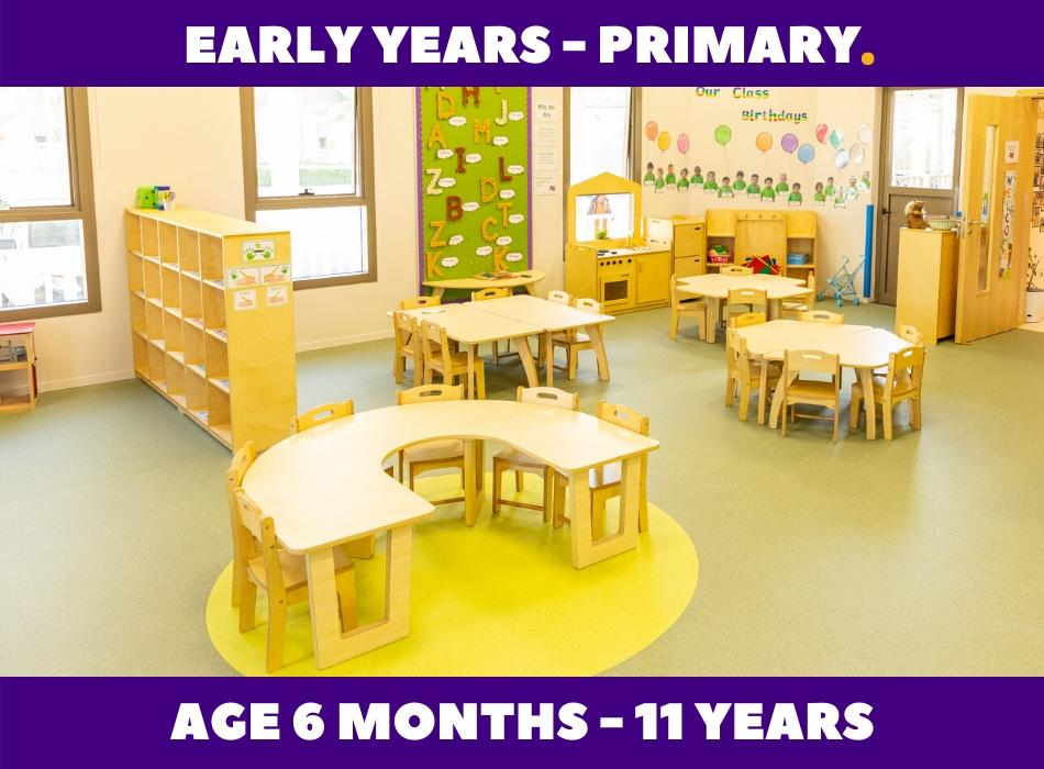 Early Years Primary School Classroom Furniture made by Moon Kids